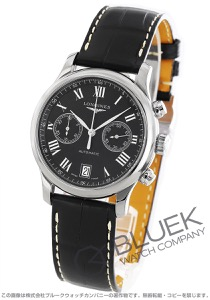 ロンジン マスターコレクション クロノグラフ アリゲーターレザー 腕時計 メンズ LONGINES L2.669.4.51.7