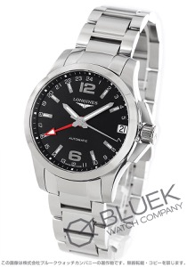 ロンジン コンクエスト GMT 腕時計 メンズ LONGINES L3.687.4.56.6