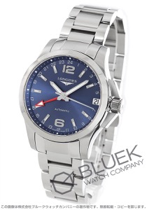 ロンジン コンクエスト GMT 腕時計 メンズ LONGINES L3.687.4.99.6