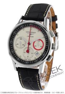 ロンジン ヘリテージ コラムホイール クロノグラフ アリゲーターレザー 腕時計 メンズ LONGINES L4.754.4.72.4
