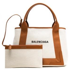バレンシアガ トートバッグ バッグ レディース ネイビーカバス ナチュラル&キャラメルブラウン 339933 AQ38N 2381 BALENCIAGA