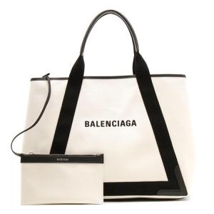 バレンシアガ トートバッグ バッグ レディース ネイビーカバス M ナチュラル&ブラック 339936 AQ38N 1081 BALENCIAGA