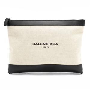 バレンシアガ ポーチ/クラッチバッグ バッグ レディース ネイビークリップ NAVY CLIP M ナチュラル&ブラック 420407 AQ37N 1080 BALENCIAGA