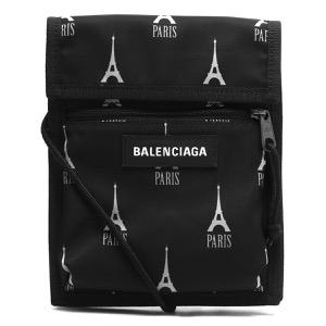 バレンシアガ ショルダーバッグ/ポーチストラップ バッグ メンズ レディース エクスプローラー PARIS EIFFEL PR ブラック&グレー 532298 9ELC5 1061 BALENCIAGA