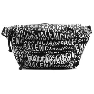 バレンシアガ ボディバッグ/ベルトバッグ/ウエストバッグ バッグ メンズ レディース ロゴ ウェーブ ウィール ベルトパック ブラック&ホワイト 533009 9MIAN 1060 2019年秋冬新作 BALENCIAGA