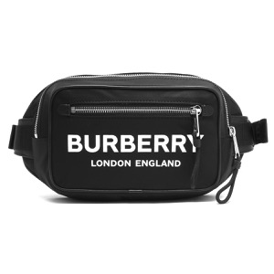 バーバリー バムバッグ/ボディバッグ バッグ メンズ ロゴプリント ブラック 8014603 110985 A1189 2019年秋冬新作 BURBERRY