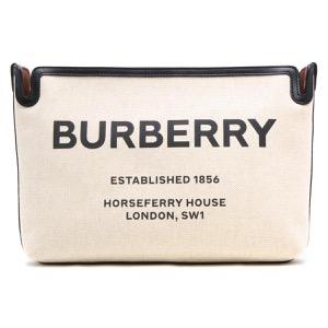 バーバリー クラッチバッグ/セカンドバッグ バッグ メンズ レディース ホースフェリー プリント ミディアム マルトブラウン&ブラック 8014814 112893 A1212 BURBERRY
