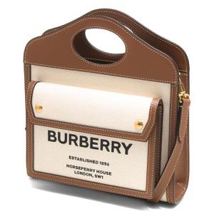 バーバリートートバッグ/ショルダーバッグ バッグ レディース ポケット ホースフェリープリント ミニ ツートン ナチュラル&モルトブラウン LL MN POCKET BAG LL6 112818 A1395 8039361