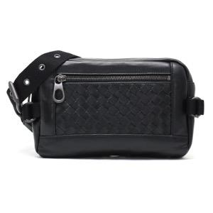 ボッテガヴェネタ (ボッテガ・ヴェネタ) ウエストバッグ バッグ メンズ イントレチャート ブラック 368899 VQ121 1000 BOTTEGA VENETA
