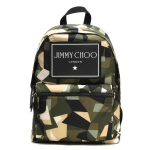 ジミーチュウ リュックサック/バックパック バッグ メンズ ウィルマー カモフラージュ プリント アミーグリーンミックス WILMER CIN 194 ARMY MIX 2019年秋冬新作 JIMMY CHOO