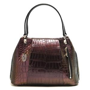 本革 ハンドバッグ バッグ レディース クロコ ピンク&ゴールド CRB027 PKGD Leather