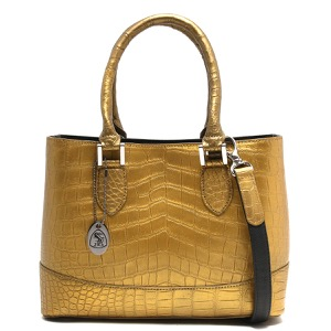 本革 ハンドバッグ/ショルダーバッグ バッグ レディース クロコ ゴールド CRB312 GLD Leather