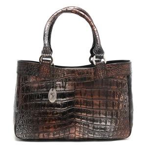 本革 ハンドバッグ バッグ レディース クロコ アンティークカッパー CRB507 ANTCO Leather