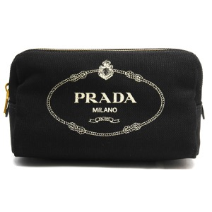 プラダ ポーチ バッグ レディース カナパ ロゴ ブラック&タルコホワイト 1NA693 20L F0N12 2019年春夏新作 PRADA