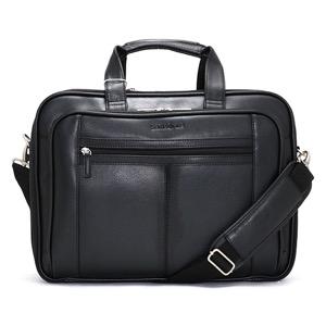 サムソナイト ビジネスバッグ バッグ メンズ LEATHER BUSINESS CASE CHECKPOINT ブラック 43122 1041 SAMSONITE