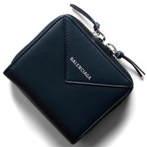 バレンシアガ 二つ折り財布 財布 レディース ペーパー ビルフォールド ネイビー 371662 DLQ0N 4222 BALENCIAGA