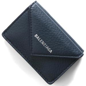 バレンシアガ 三つ折り財布 財布 メンズ レディース ペーパー ミニ ブループロフォン 391446 DLQ0N 4222 2020年春夏新作 BALENCIAGA