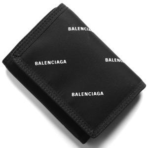 バレンシアガ 三つ折り財布 財布 メンズ レディース エクスプローラー ロゴプリント ブラック&ホワイト 507481 9EL75 1060 BALENCIAGA