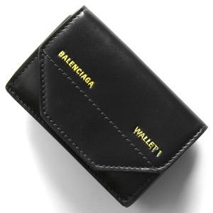 バレンシアガ 三つ折り財布/ミニ財布 財布 レディース エテュイ ロゴ ブラック&ライトジョーヌイエロー 529098 0ST2N 1070 BALENCIAGA
