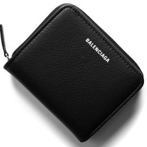 バレンシアガ 二つ折り財布 財布 レディース エブリディ ビルフォールド ブラック 551933 DLQ0N 1000 BALENCIAGA