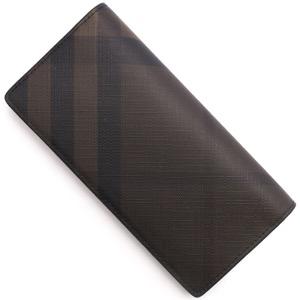 バーバリー 長財布 財布 メンズ スモークトチェック チョコレートブラウン&ブラック 3996180 2070B BURBERRY