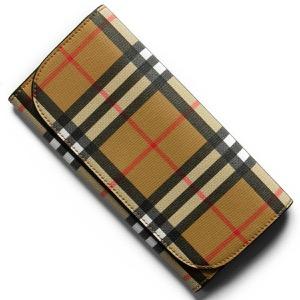 バーバリー 長財布 財布 メンズ レディース ヘロン ヴィンテージチェック アンティークイエローベージ&ブラック 8005385 A1189 BURBERRY