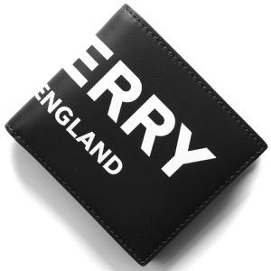 バーバリー 二つ折り財布 財布 メンズ シーシービル インターナショナル プリント ブラック 8013919 A1189 BURBERRY