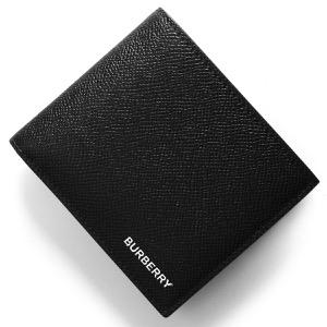 バーバリー 二つ折り財布【札入れ】 財布 メンズ シーシービル インターナショナル ブラック 8014653 A1189 2019年春夏新作 BURBERRY