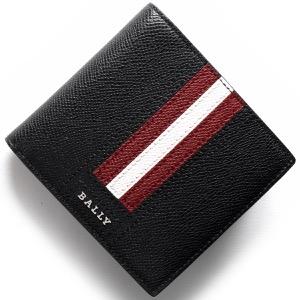 バリー 二つ折り財布 財布 メンズ テイゼル TEISEL ブラック TEISELLT 210 6219953 BALLY