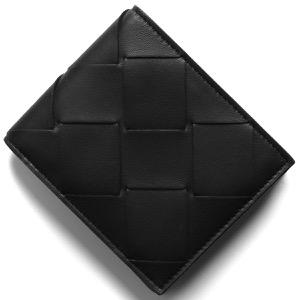 ボッテガヴェネタ (ボッテガ・ヴェネタ) 二つ折財布【札入れ】 財布 メンズ イントレチャート ブラック 113993 VO0BI 1000 2020年春夏新作 BOTTEGA VENETA