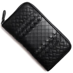 ボッテガヴェネタ長財布 財布 メンズ イントレチャート ブラック 114076 VV341 1000