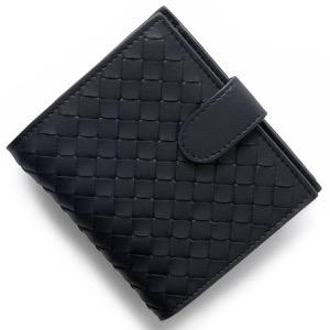ボッテガヴェネタ 二つ折り財布 財布 メンズ イントレチャート INTRECCIATO トルマリンネイビー 121059 V001N 4014 BOTTEGA VENETA