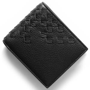 ボッテガヴェネタ (ボッテガ・ヴェネタ) 二つ折り財布 財布 メンズ イントレチャート ブラック 193642 VCEP1 1000 BOTTEGA VENETA