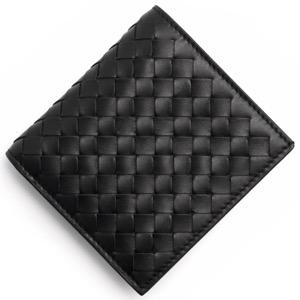 ボッテガヴェネタ (ボッテガ・ヴェネタ) 二つ折り財布(札入れ) 財布 メンズ イントレチャート ブラック 222338 V4651 1000 BOTTEGA VENETA