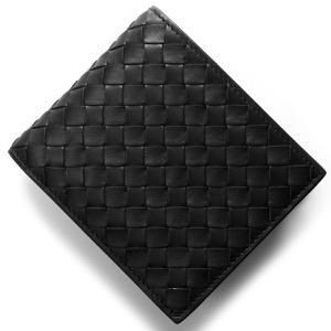 ボッテガヴェネタ (ボッテガ・ヴェネタ) 二つ折り財布 財布 メンズ イントレチャート ブラック 415892 V4651 1000 BOTTEGA VENETA