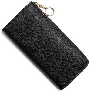 ブルガリ 長財布 財布 レディース ブルガリブルガリ レザー ラウンドファスナー ブラック 280065 BVLGARI