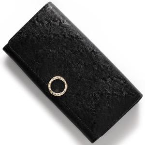 ブルガリ 長財布 財布 メンズ レディース ブルガリブルガリ レザー ブラック 280526 BVLGARI