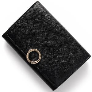 ブルガリ 二つ折り財布 財布 レディース ブルガリブルガリ レザー ブラック 280555 BVLGARI