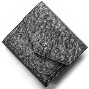 コーチ 三つ折り財布 財布 レディース メタリック スモール METALLIC メタリックグラファイトグレー&ブラック 59972 SVM4Z COACH
