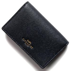 コーチ カードケース/名刺入れ レディース インターナショナル ビジネス ミッドナイトブルー F57860 IMMID COACH