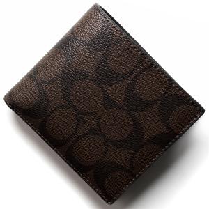 コーチ 二つ折財布 財布 メンズ シグネチャー マホガニーブラウン&ブラウン F75006 MABR COACH