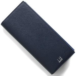 ダンヒル 長財布 財布 メンズ カドガン ネイビー&ライトブルー DU18F2100CA 410 2020年春夏新作 DUNHILL