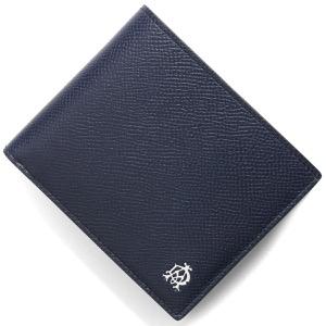 ダンヒル 二つ折り財布 財布 メンズ ネイビー DU19F2C32CA 410 DUNHILL
