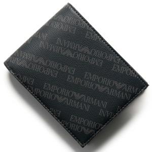 エンポリオアルマーニ 二つ折り財布 財布 メンズ イーグルマーク インディゴ&ネイビー Y4R165 YLO7E 82720 EMPORIO ARMANI