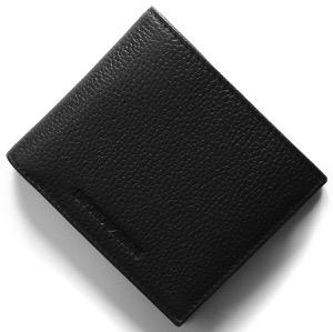 エンポリオアルマーニ 二つ折り財布 財布 メンズ ブラック Y4R167 YDS4E 81072 EMPORIO ARMANI
