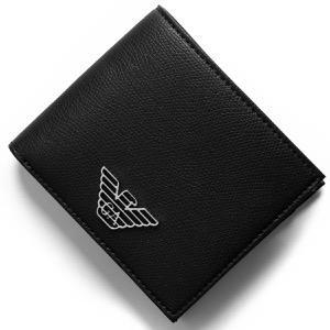 エンポリオアルマーニ 二つ折り財布 財布 メンズ イーグルマーク ブラック Y4R167 YLA0E 81072 EMPORIO ARMANI
