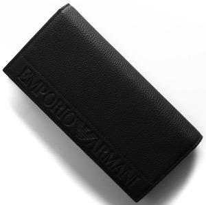 エンポリオアルマーニ 長財布 財布 メンズ イーグルマーク ブラック Y4R170 YG89J 81072 EMPORIO ARMANI