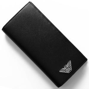エンポリオアルマーニ 長財布 財布 メンズ イーグルマーク ブラック Y4R170 YLA0E 81072 EMPORIO ARMANI