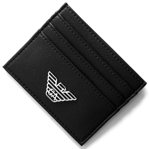エンポリオアルマーニ クレジットカードケース メンズ ブラック Y4R173 YLA0E 81072 EMPORIO ARMANI