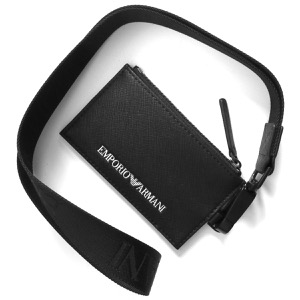 エンポリオアルマーニ カードケース/定期入れ/コインケース メンズ パスホルダー イーグルマーク ブラック Y4R263 Y020V 81072 2021年春夏新作 EMPORIO ARMANI